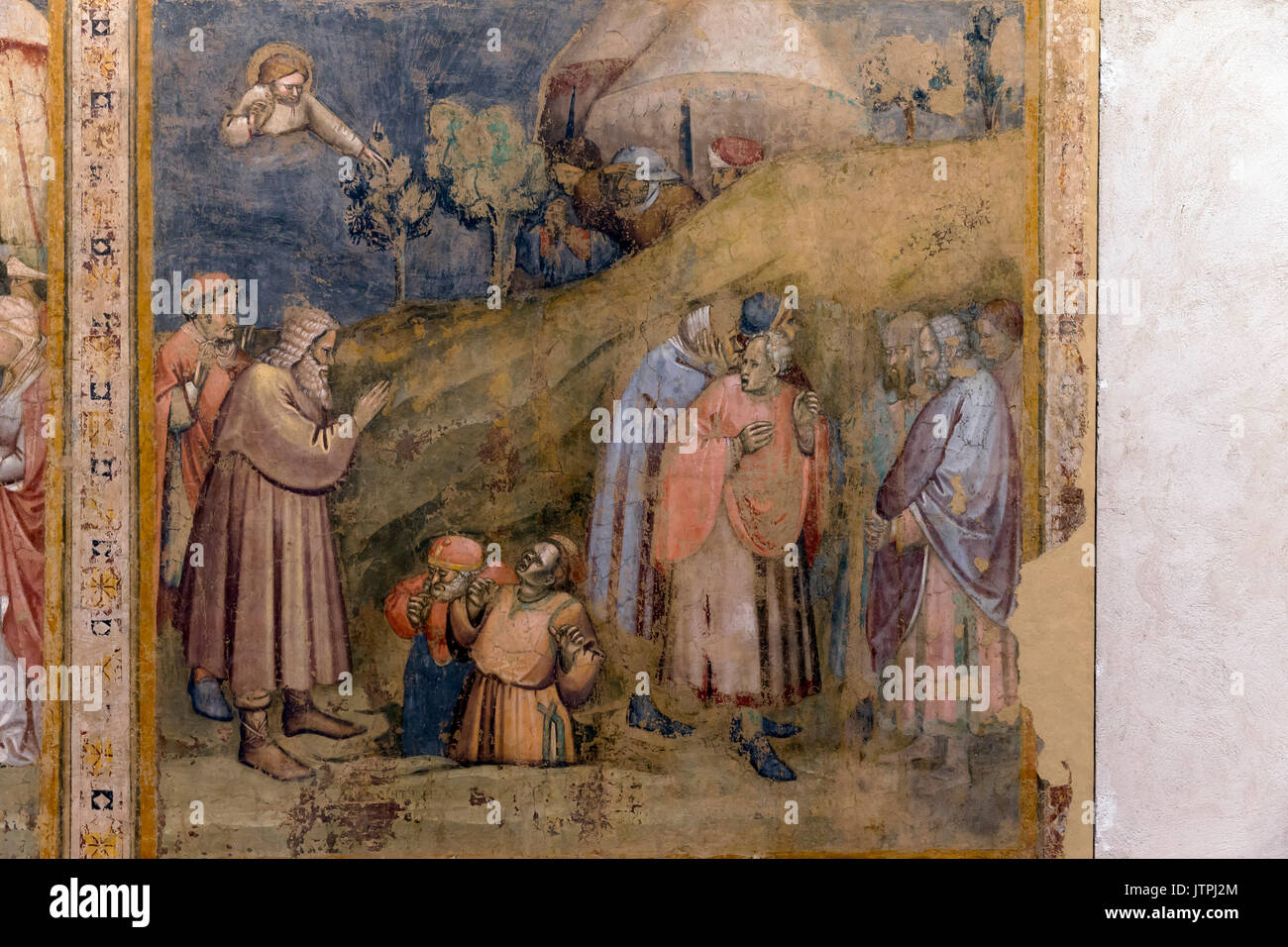 Old Testament Frescoes, by Simone dei Crocifissi, from Chiesa di S. Apollonia Mezzaratta, 1366, National Art Gallery of Bologna, Pinacoteca Nazionale  - Stock Image