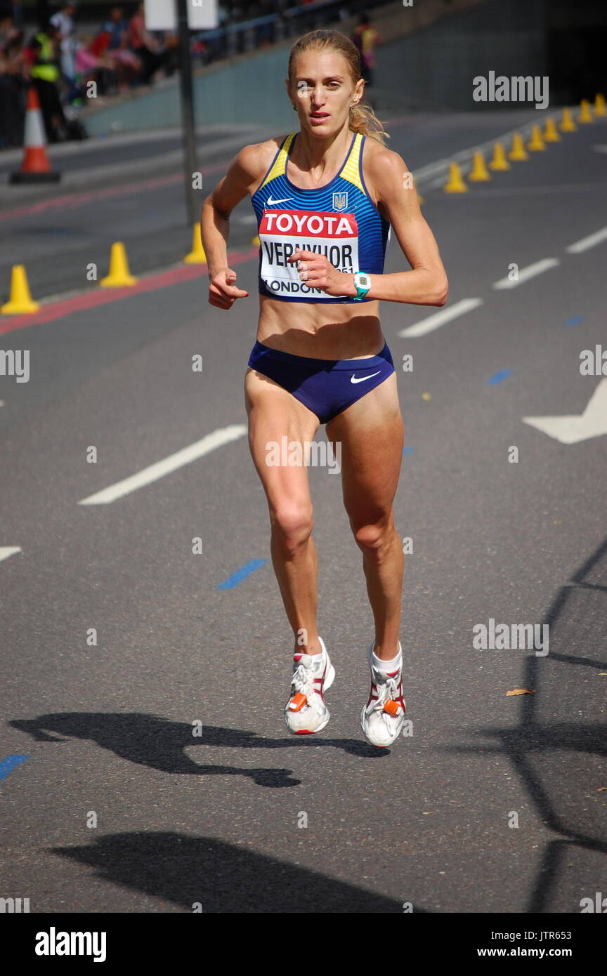 IAAF World Championships Women's Marathon London 2017 - Stock Image