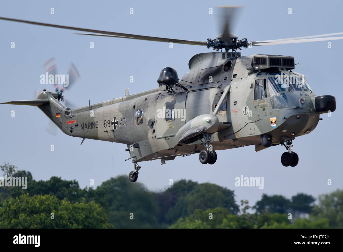 Westland Sikorsy WS-61 Sea King search and rescue helicopter German Navy Mk41 89-70 of Marine MFG5. Space for copy - Stock Image