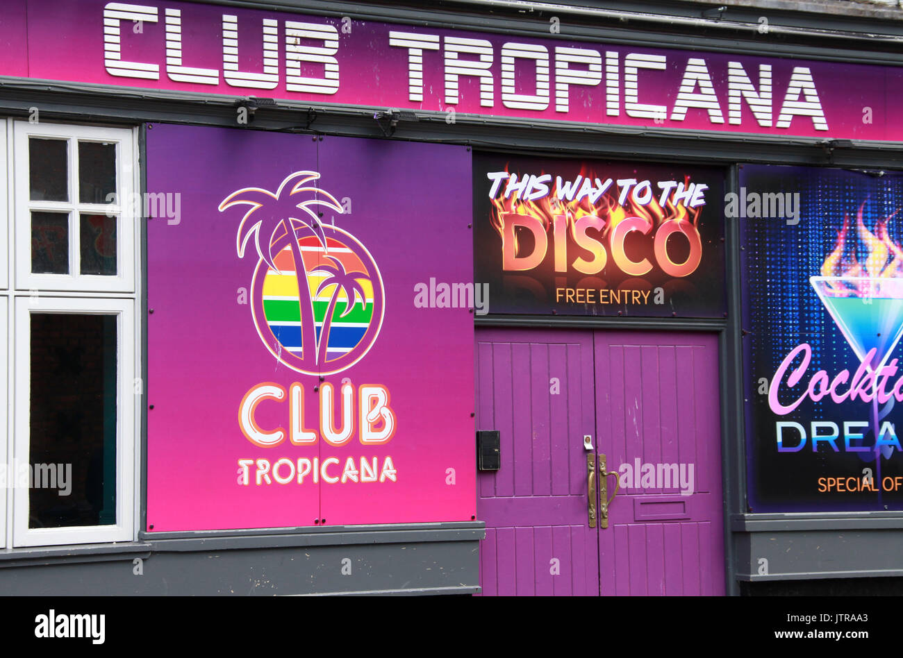 Club Tropicana in Manchester - Stock Image