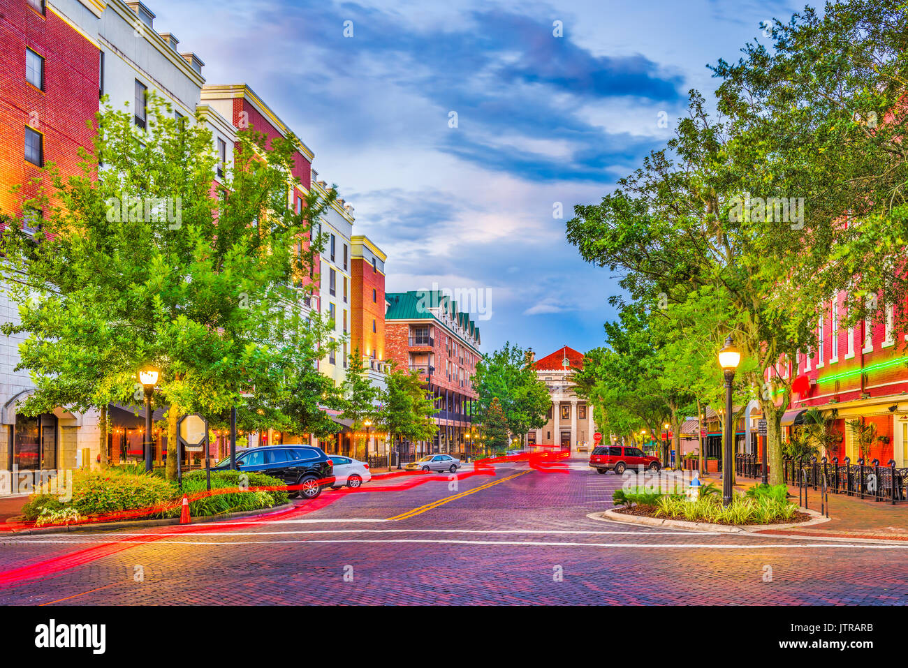 Gainesville, Florida, USA downtown cityscape. - Stock Image