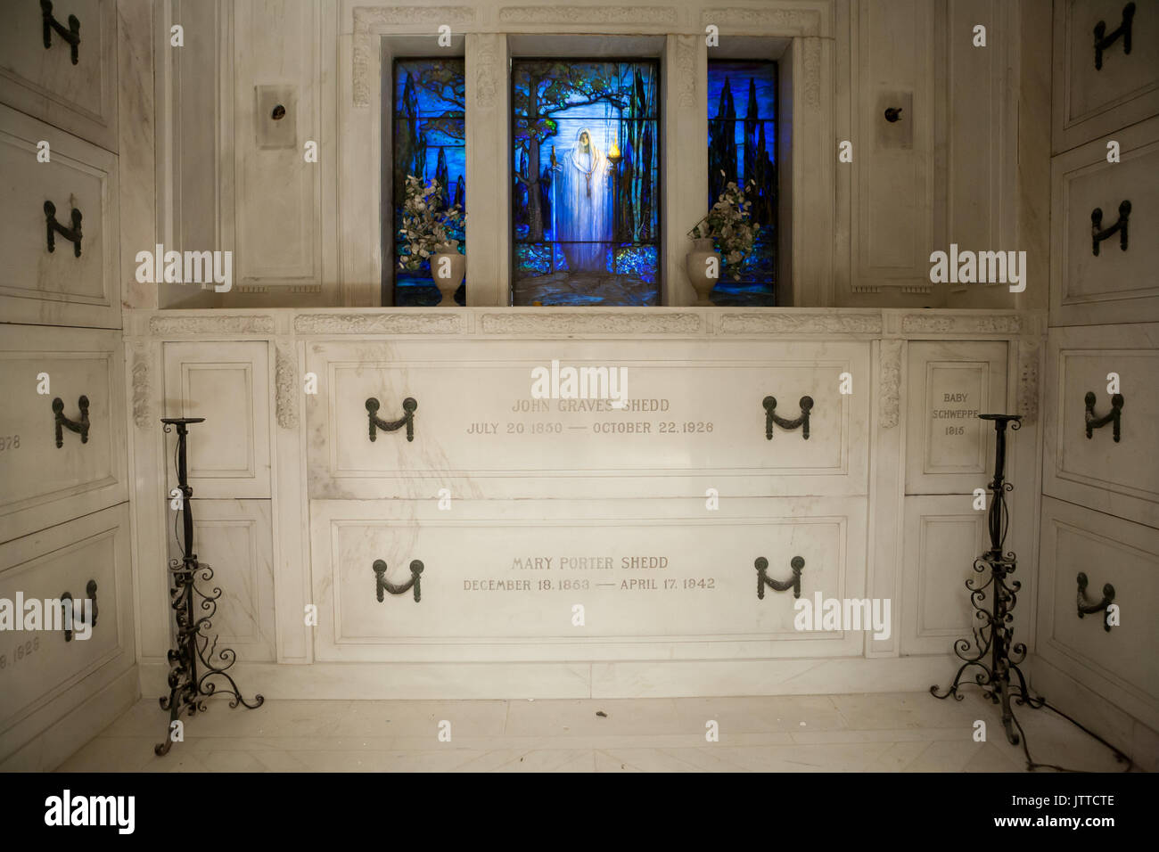 Shedd crypt at Rosehill Mausoleum in Chicago, Illinois. - Stock Image