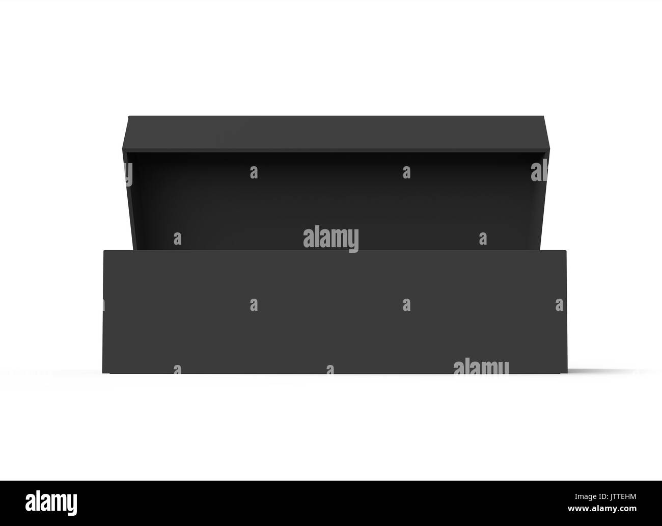 3d blank flat box on cut out stock images pictures alamy
