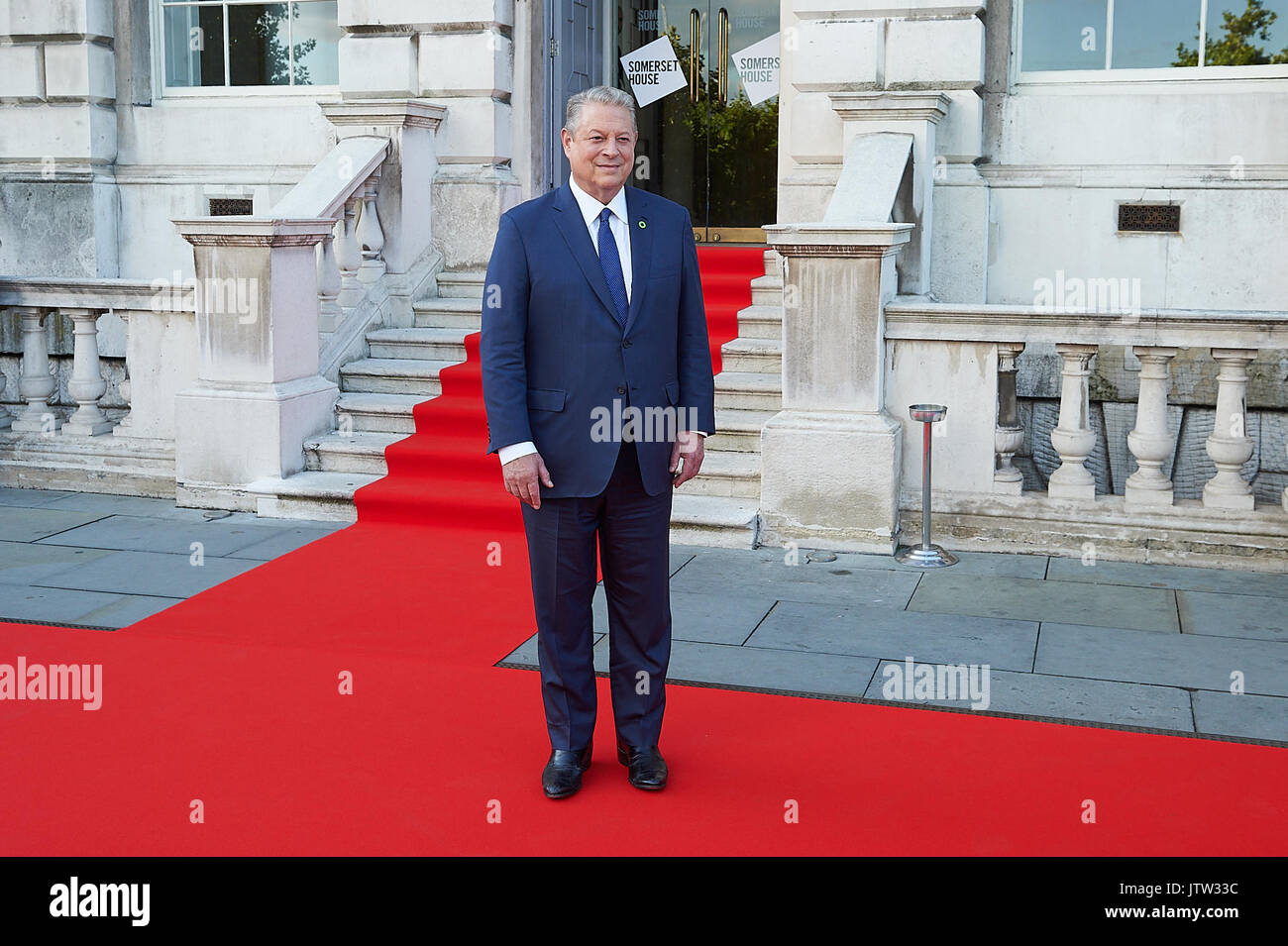 London, UK. 10th August, 2017. Al Gore attends as his documentary marks opening of film 4 Summer Film festival. Stock Photo