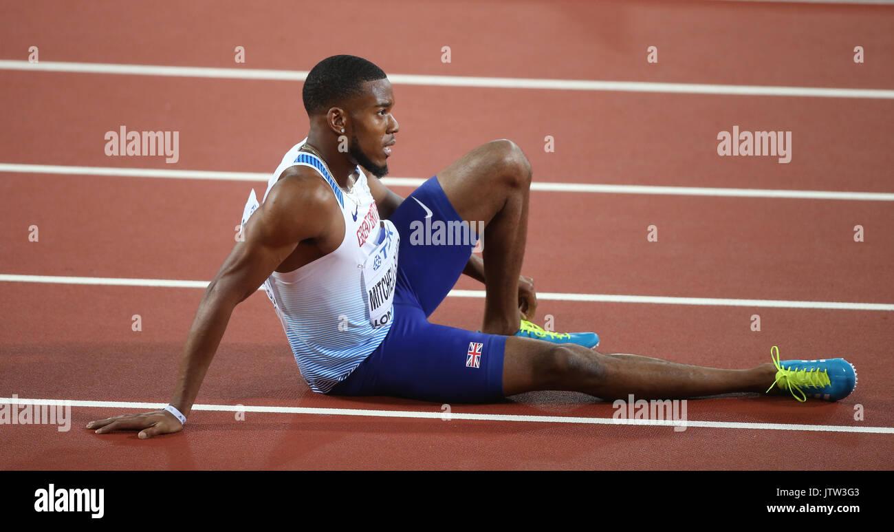 London, UK. 10th August, 2017. Nethaneel Mitchell Blake 200 Metres Final World Athletics Championships 2017 London Stock Photo