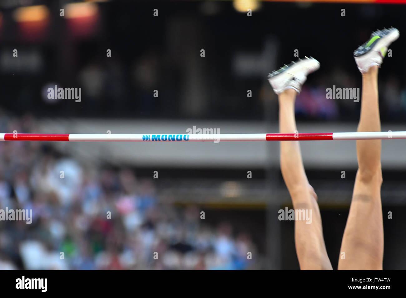 Queen Elizabeth Park, London, UK. 10th Aug, 2017. IAAF World Championships. Day 7. High Jump Women, Qualification, Stock Photo