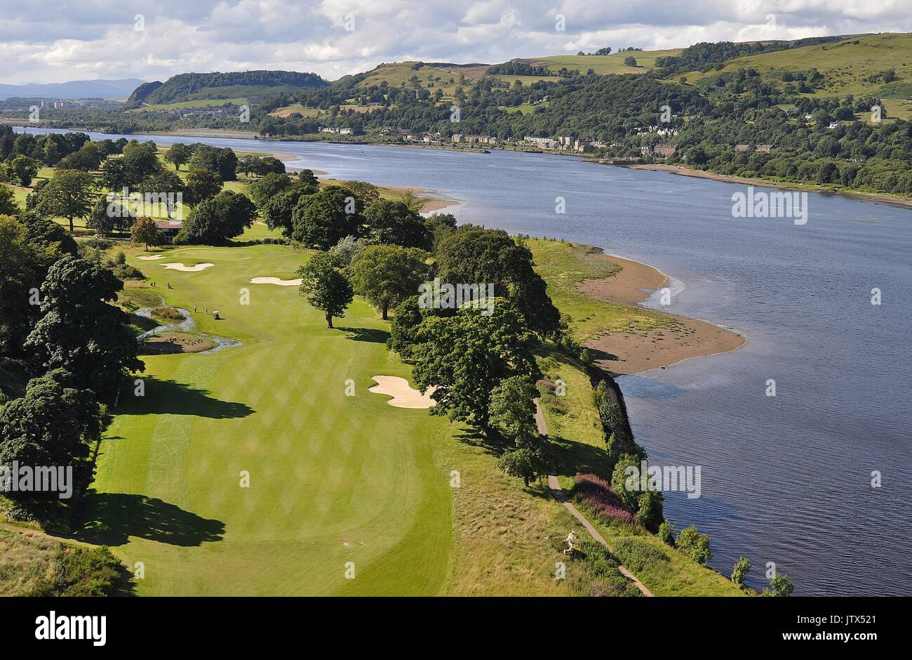 MARR HALL GOLF COURSE AND RIVER CLYDE - Stock Image