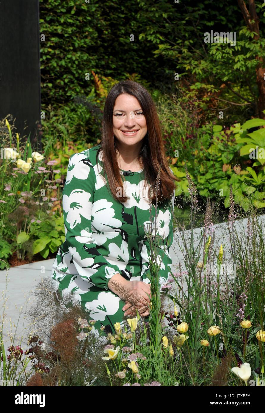Rachel De Thame is an English gardener and television presenter on BBC's Gardeners World. - Stock Image