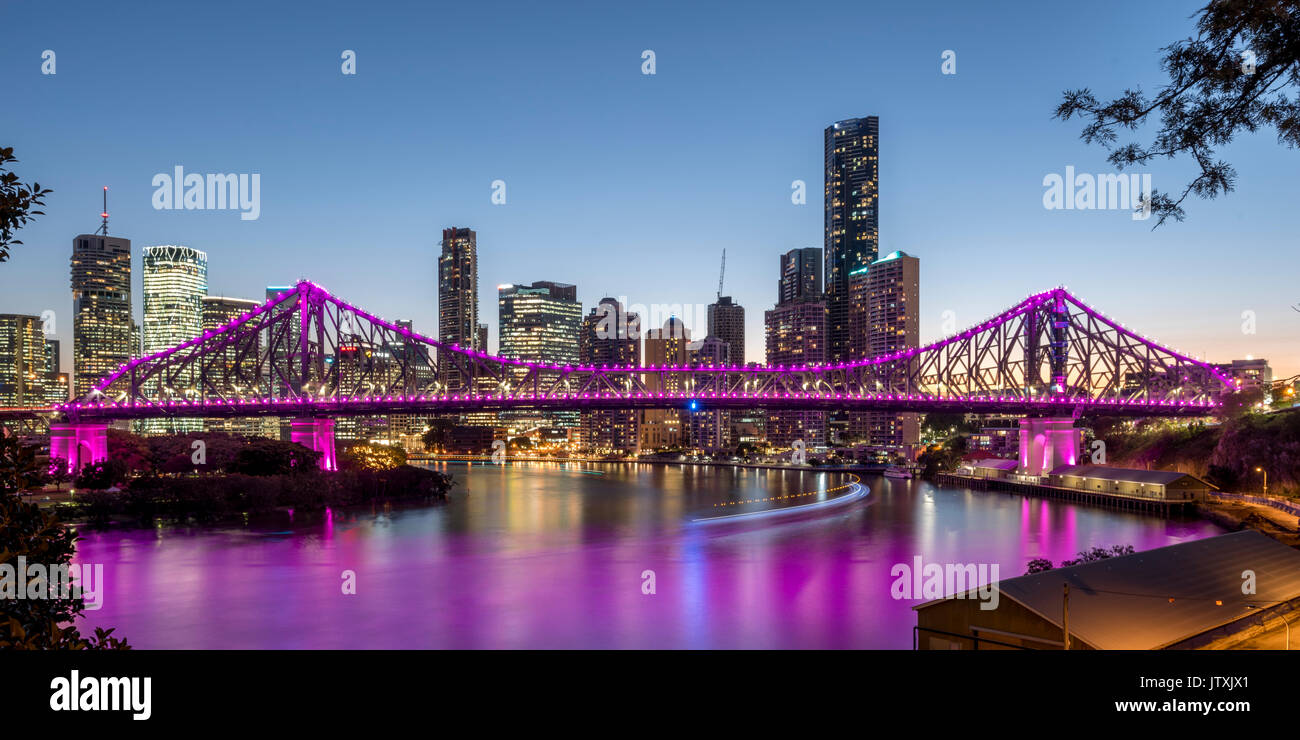 Story Bridge, Brisbane, Queensland, Australia - Stock Image