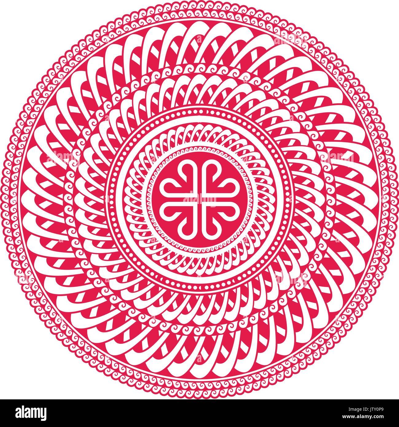Mandala. Mongolian National ornament element for designers. - Stock Vector