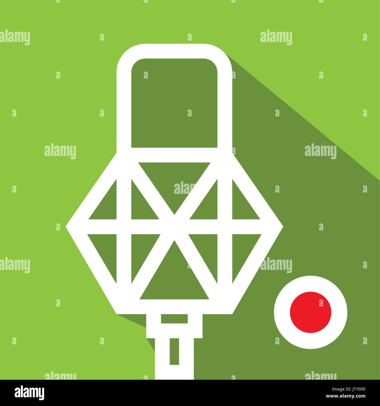 Recording icon. Sound and music icon. Flat design. Vector illustration. - Stock Image
