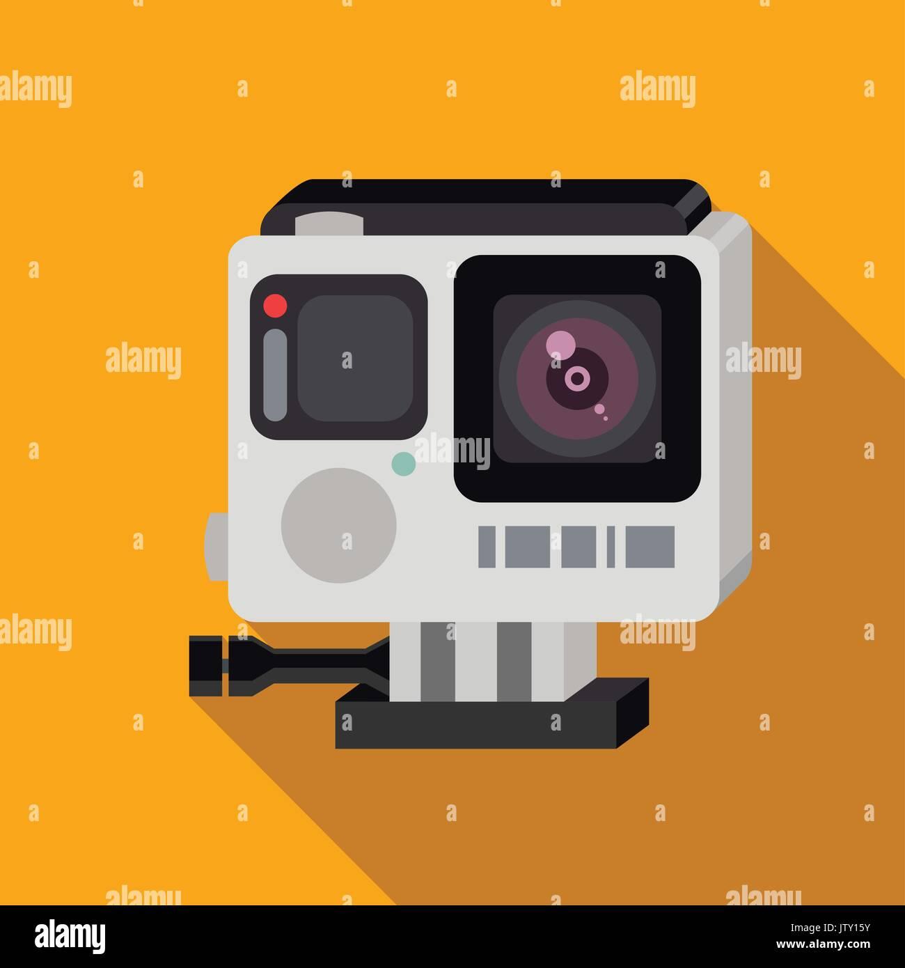Camera icon. Flat design. Vector illustration. Stock Vector