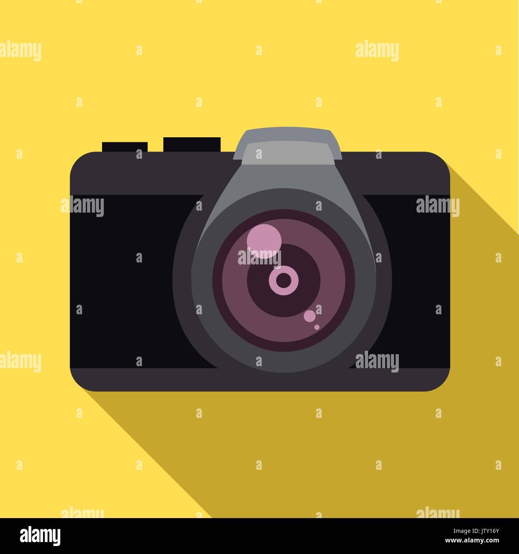 Camera icon. Flat design. Vector illustration. - Stock Vector