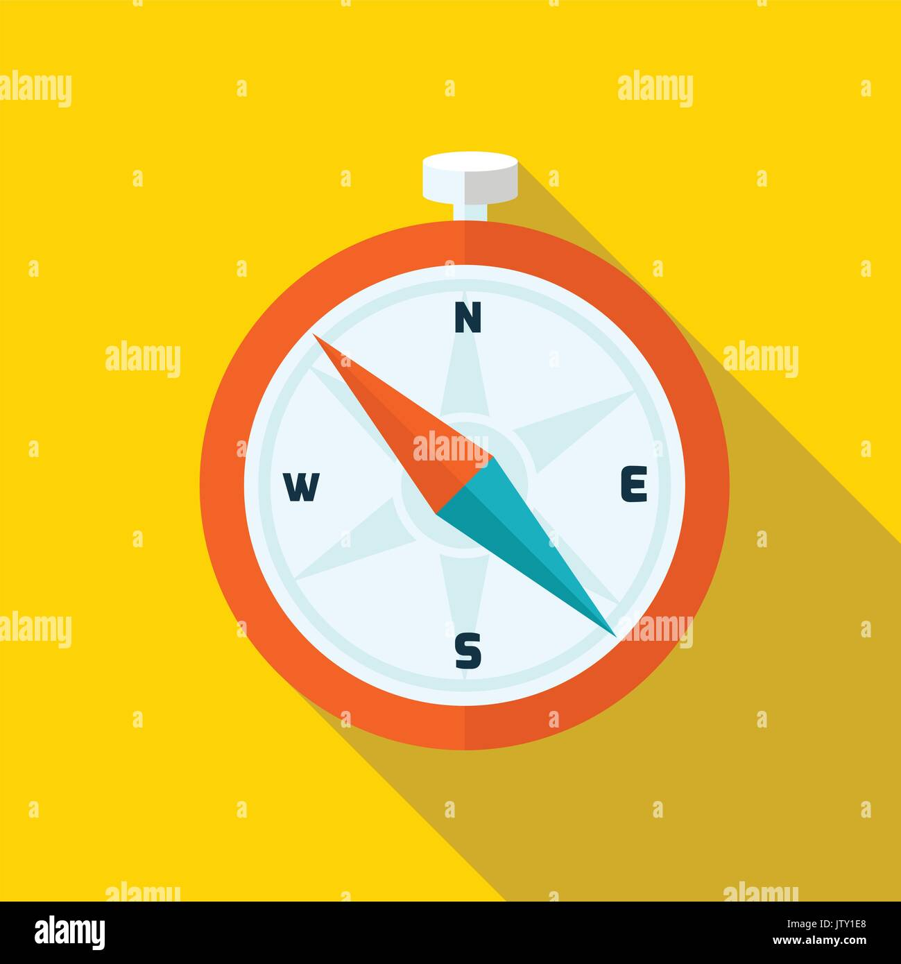 Compass. Flat design. Vector illustration. - Stock Vector