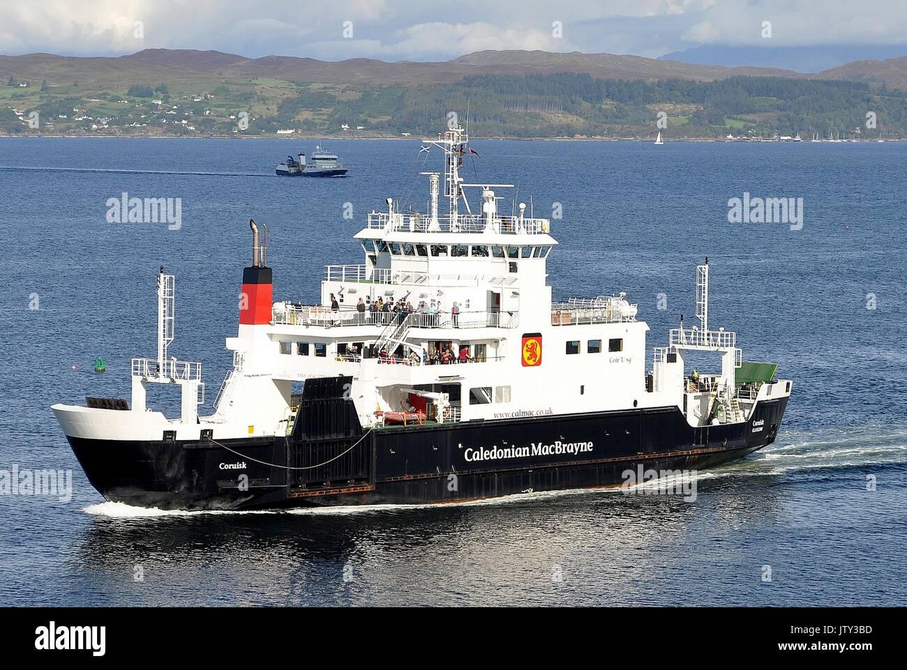 CALEDONIAN MacBRAYNE VEHICLE AND PASSENGER FERRY MV CORUISK Stock Photo