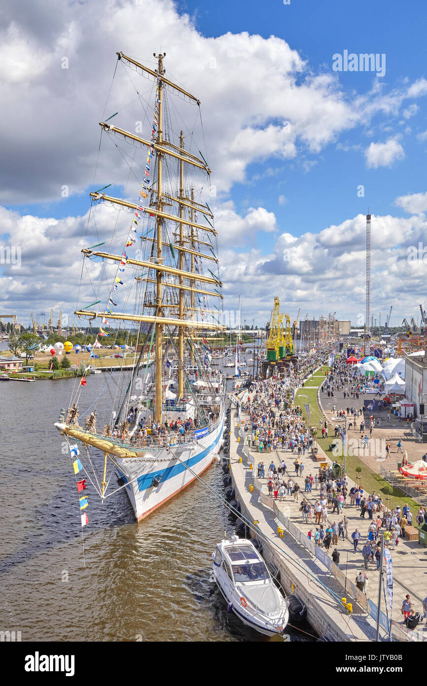 Szczecin, Poland - August 06, 2017: Final of The Tall Ships Races 2017 in Szczecin. - Stock Image