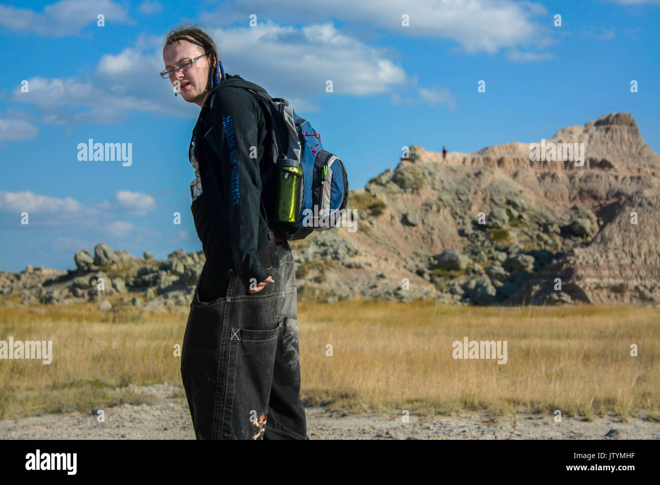 1b280b886fd Alternative punk guy at the badlands national park stock photo jpg 1300x956 Punk  guy