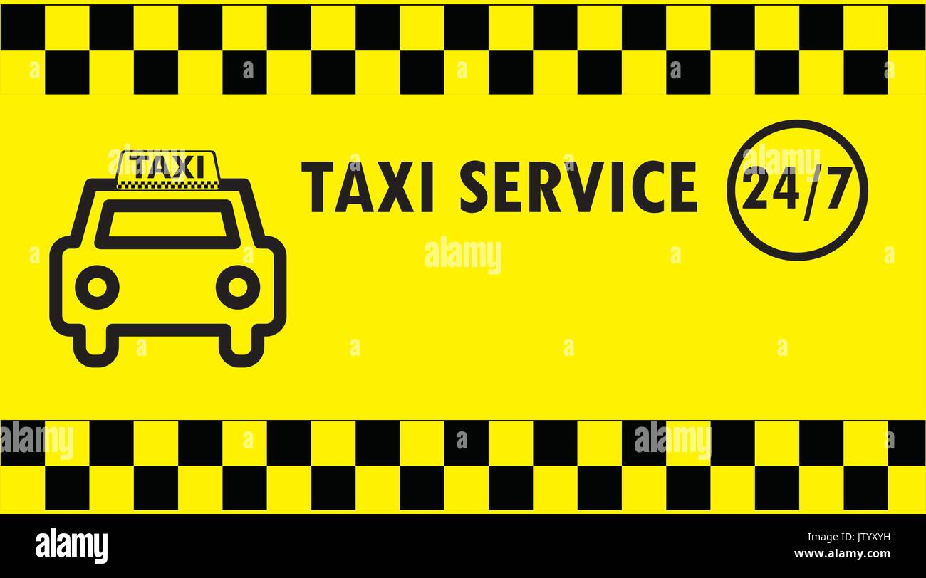 Taxi business card, vector illustration Stock Vector Art