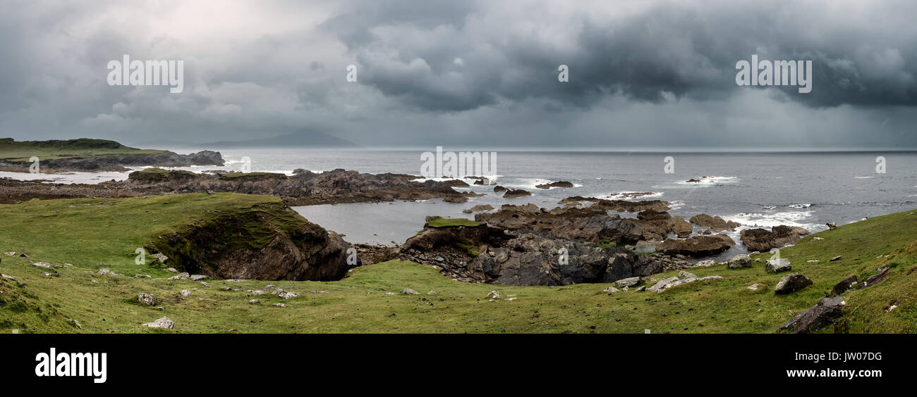Achill head in county Mayo on the west coast of Ireland - Stock Image
