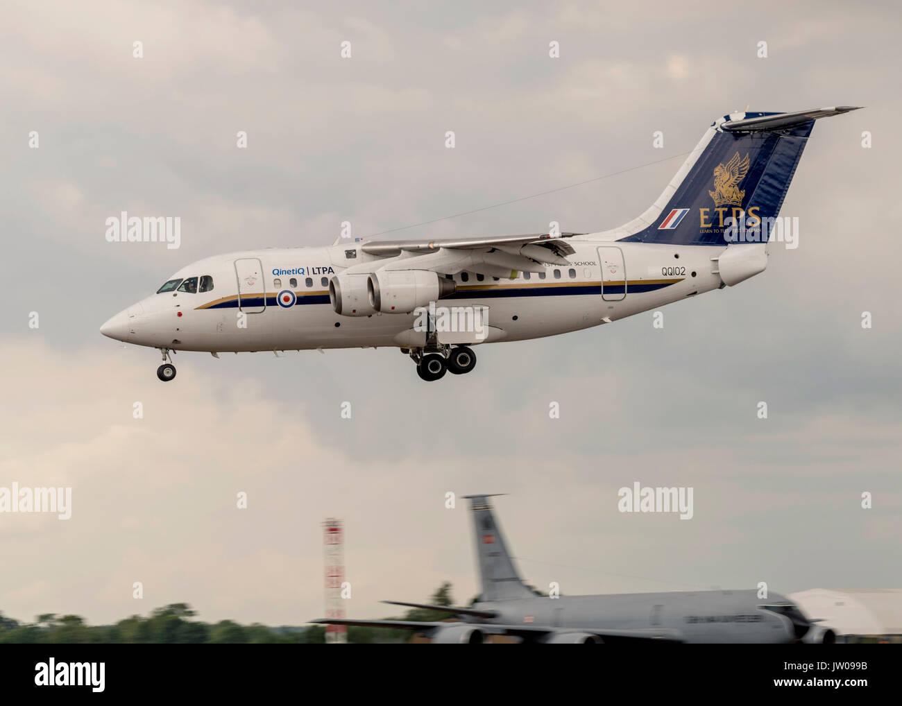AVRO RJ100, ETPS, Qinetiq - Stock Image