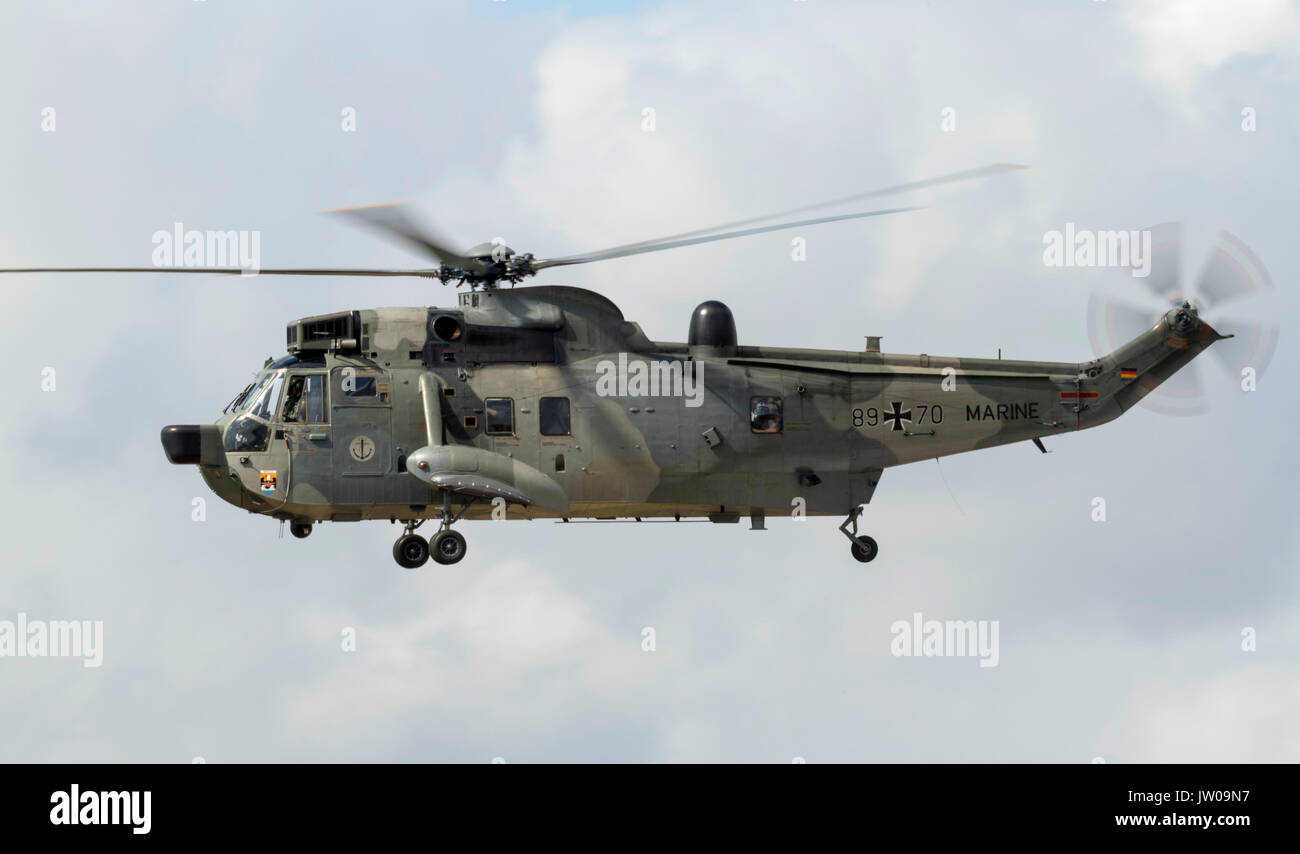 Sea King Mk41 Helicopter, German Navy - Stock Image