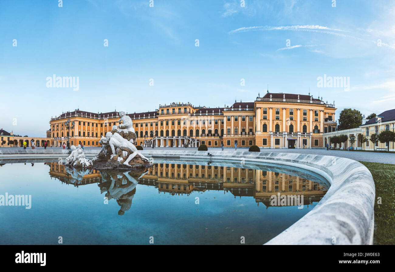 Beautiful Schonbrunn palace in Vienna, Austria - Stock Image