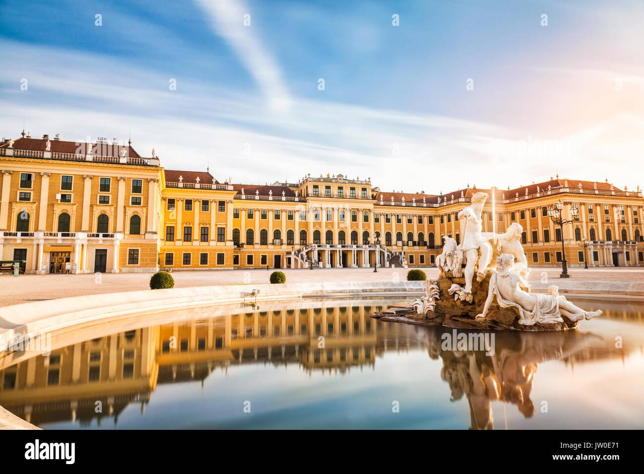 Beautiful Schonbrunn palace in Vienna, Austria - Stock Image