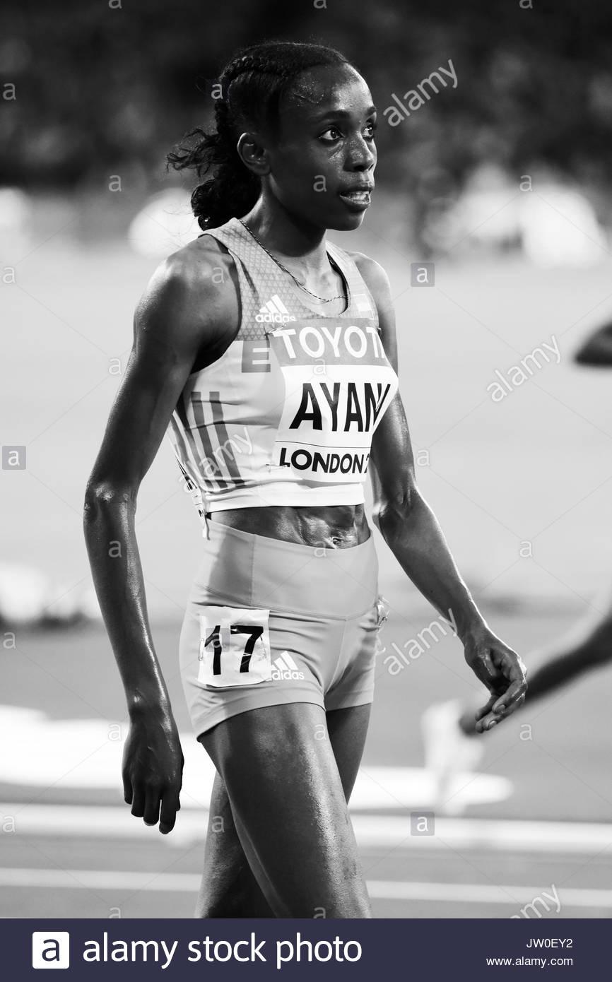 London, UK. 05 Aug, 2017. ALMAZ AYANA wins the 10000 metres women – IAAF World Championships London 2017. - Stock Image