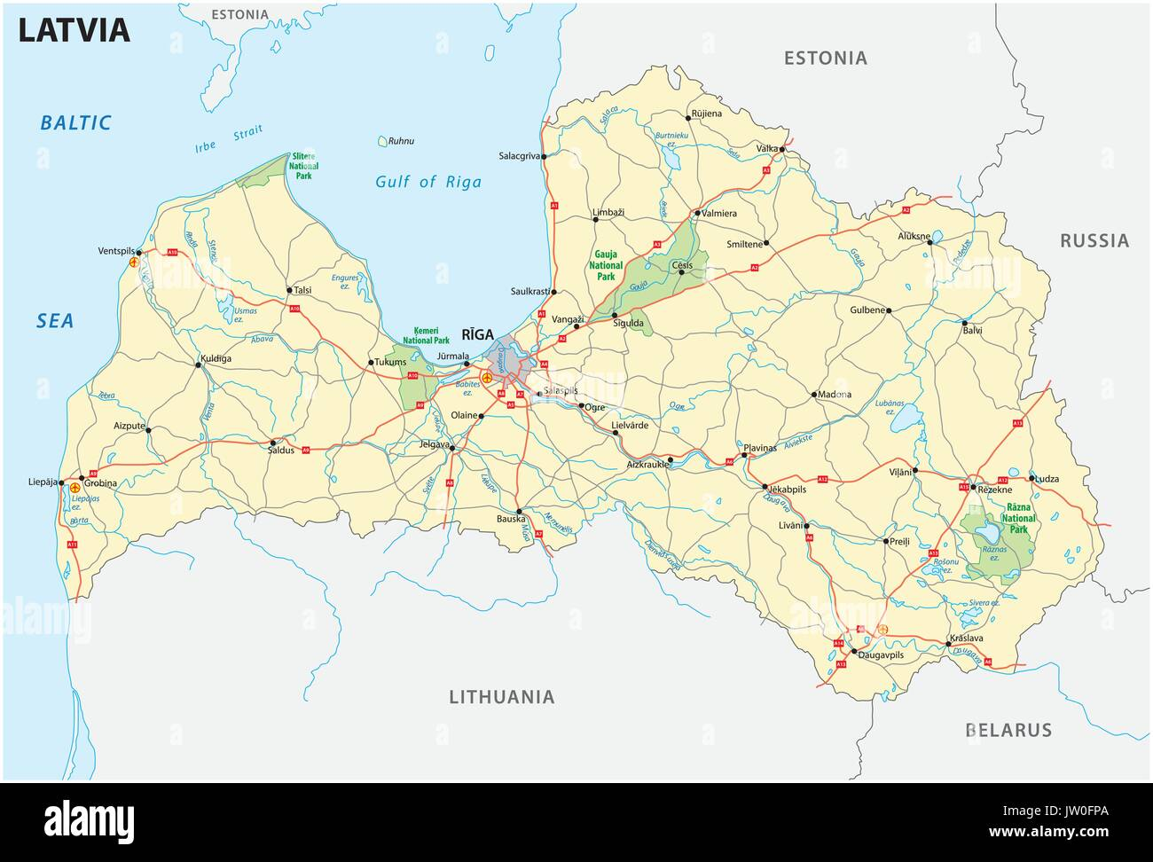 Map Of Latvia Stock Photos & Map Of Latvia Stock Images - Alamy