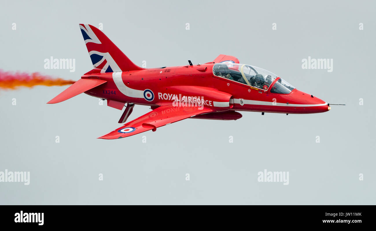 RAF Red Arrows Aerobatic Ream - Stock Image