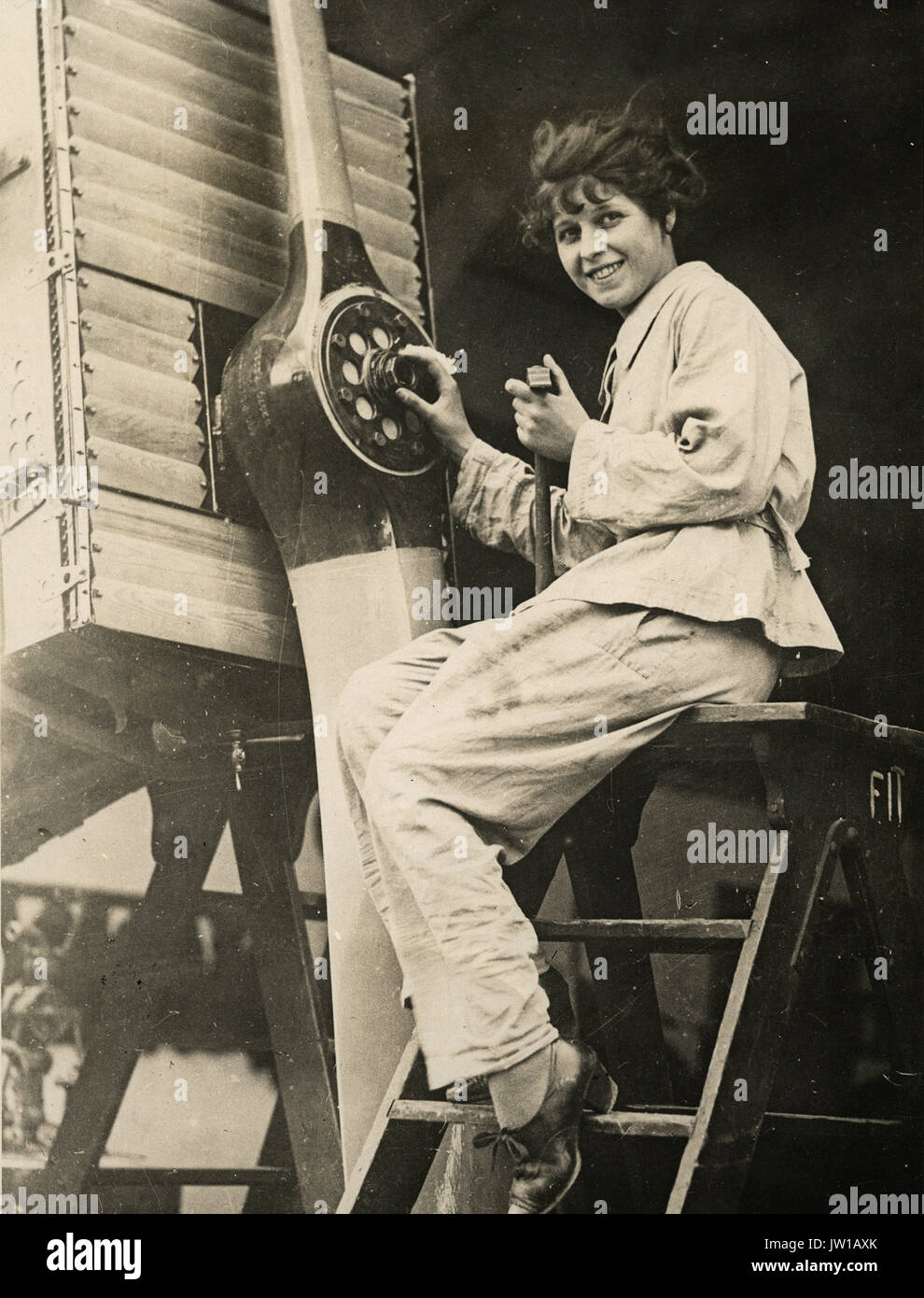 Mechanic - Alternative Title: Women's Work - Stock Image