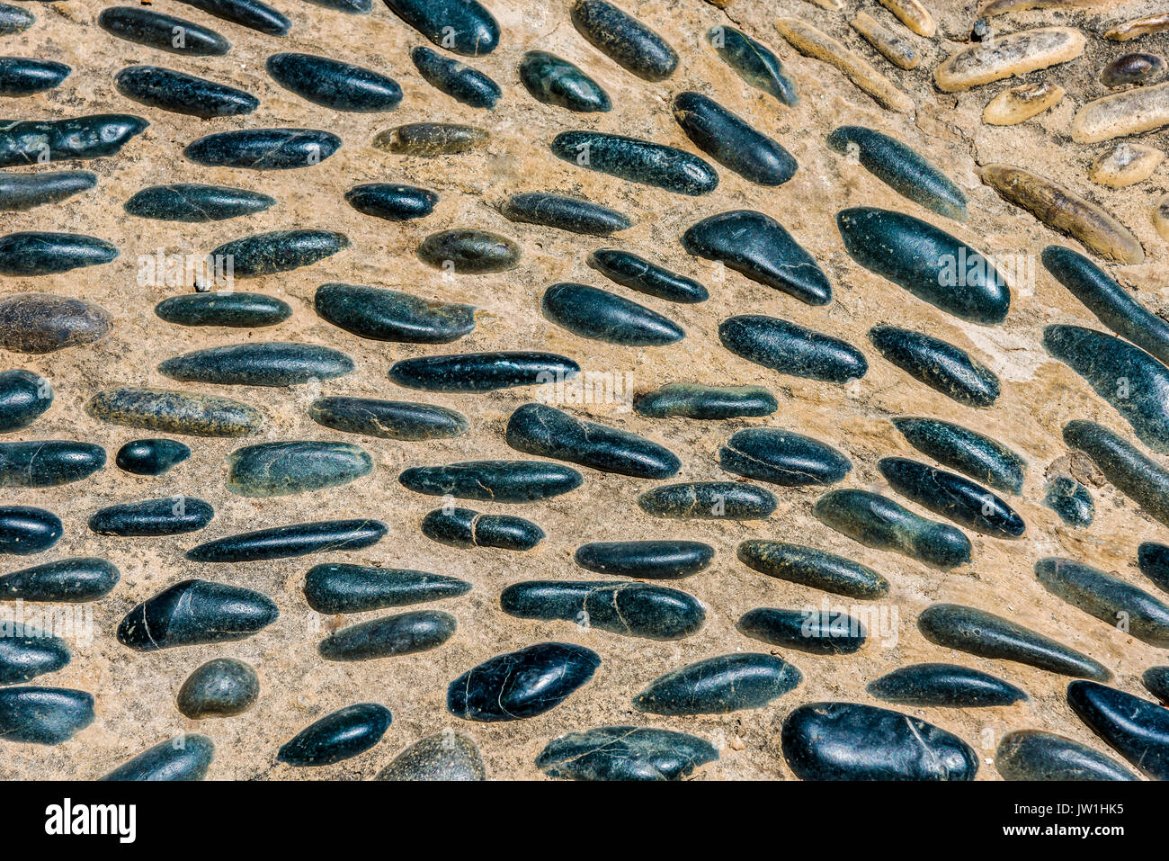 stone, wall texture background design natural stone - Stock Image