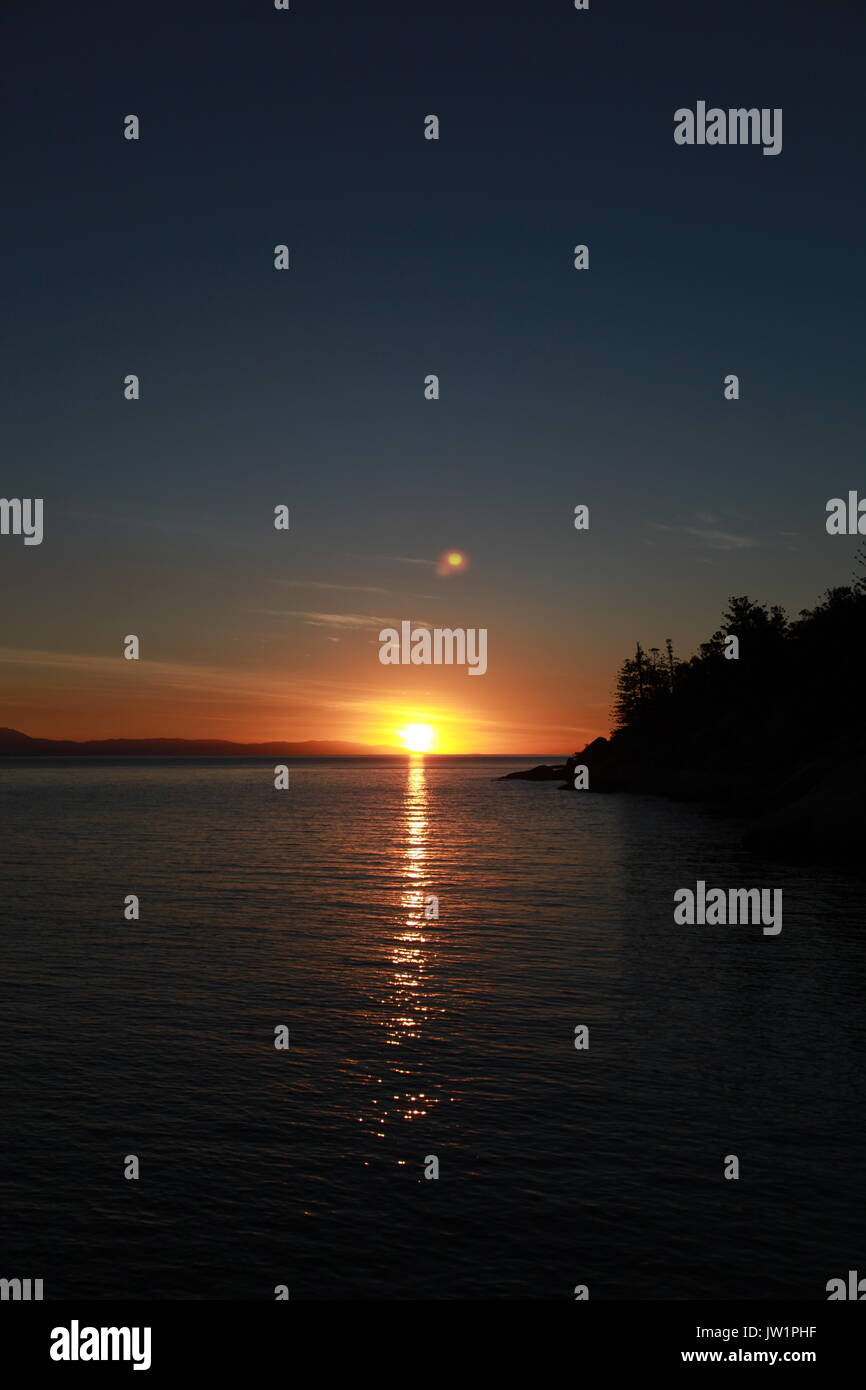 sunset at Nobby Headland, Magnetic Island Queensland - Stock Image