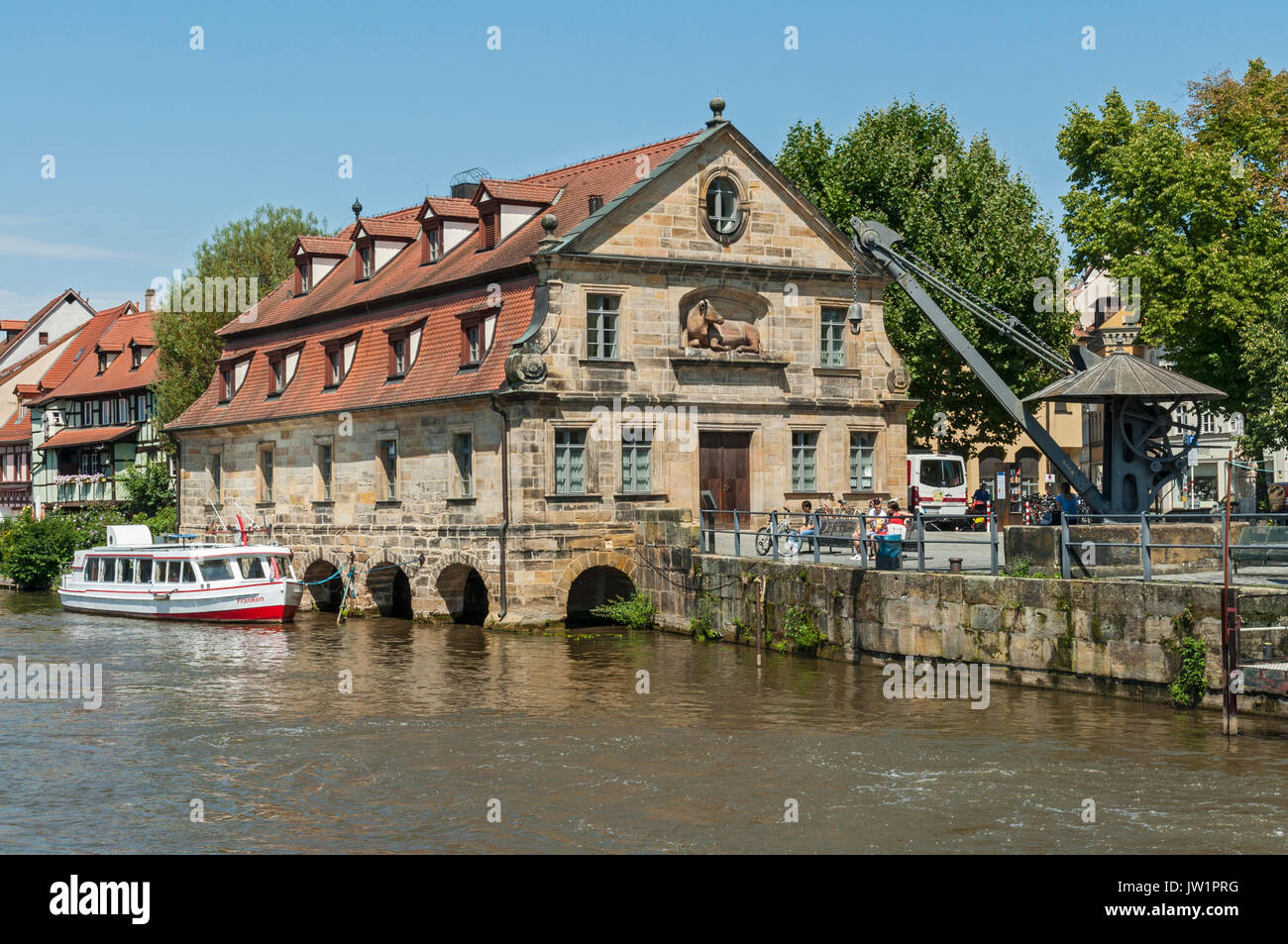 The Old Slaughter House in Bamberg, Franconia, Germany. - Stock Image