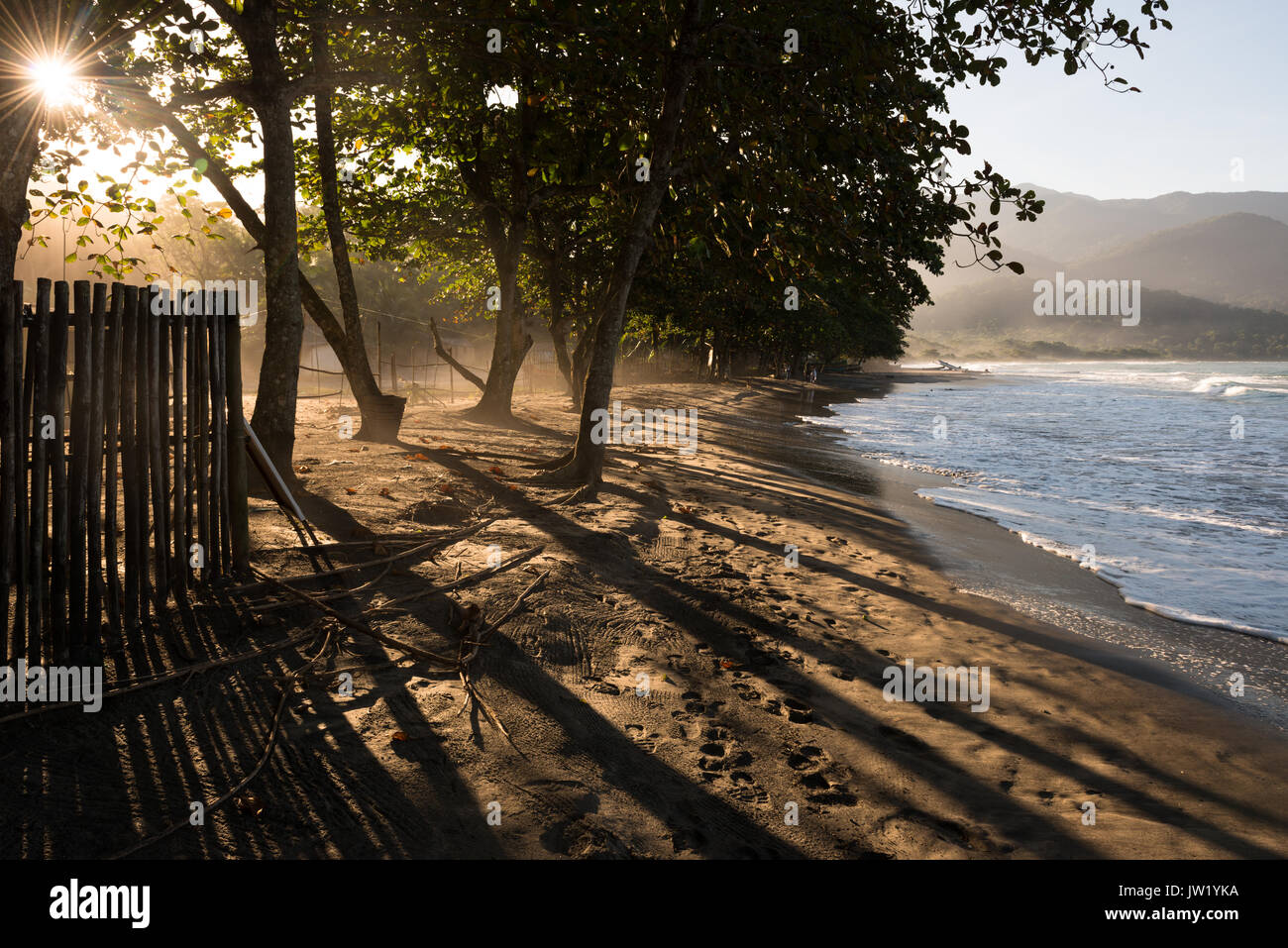 Castelhanos Beach in Ilhabela Stock Photo