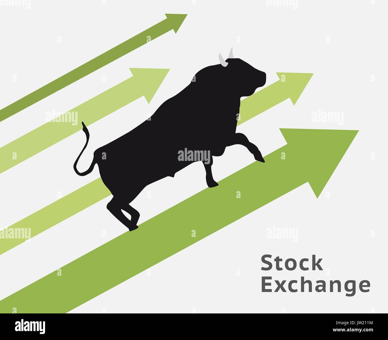 Bull stock concept raising up. Making profit. - Stock Image