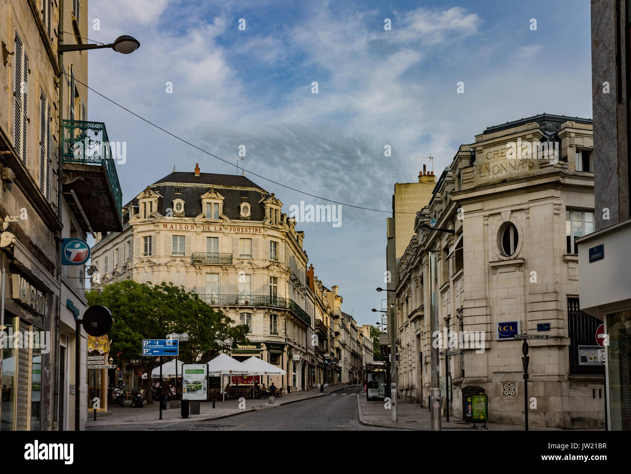 The PIcturesque Houses o Bourges France Stock Photo