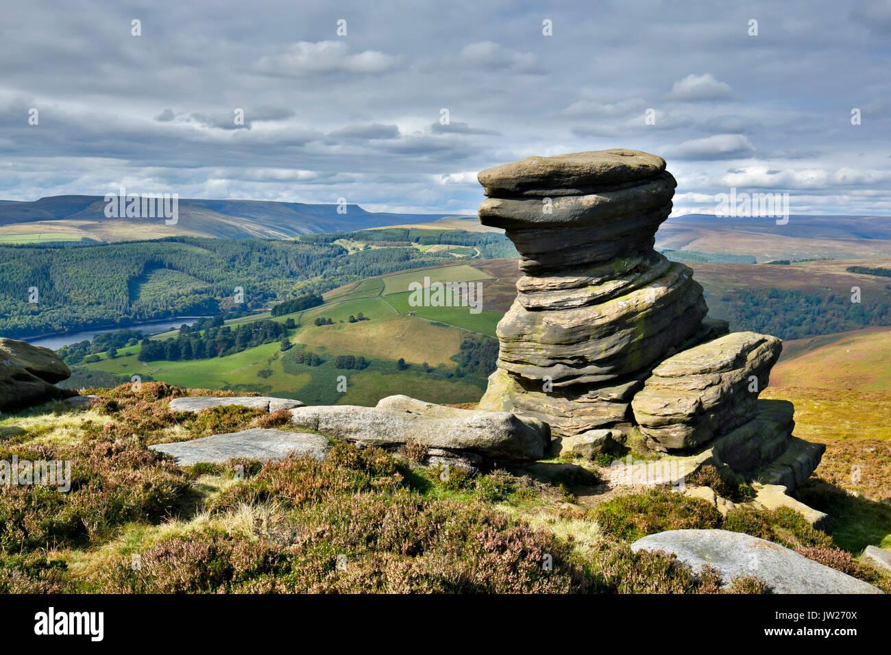 Salt Cellar Tor; Peak District; UK - Stock Image