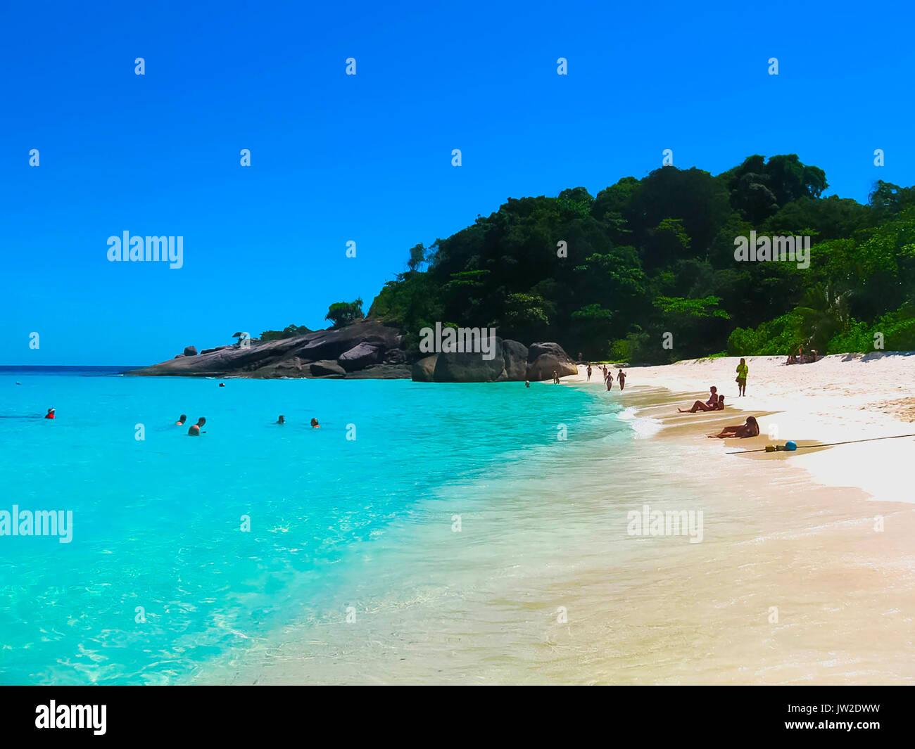 Bay of Similan Islands - Stock Image