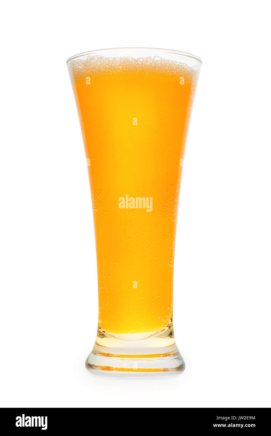 Orange carbonated drink. Isolated on white, clipping path included - Stock Image