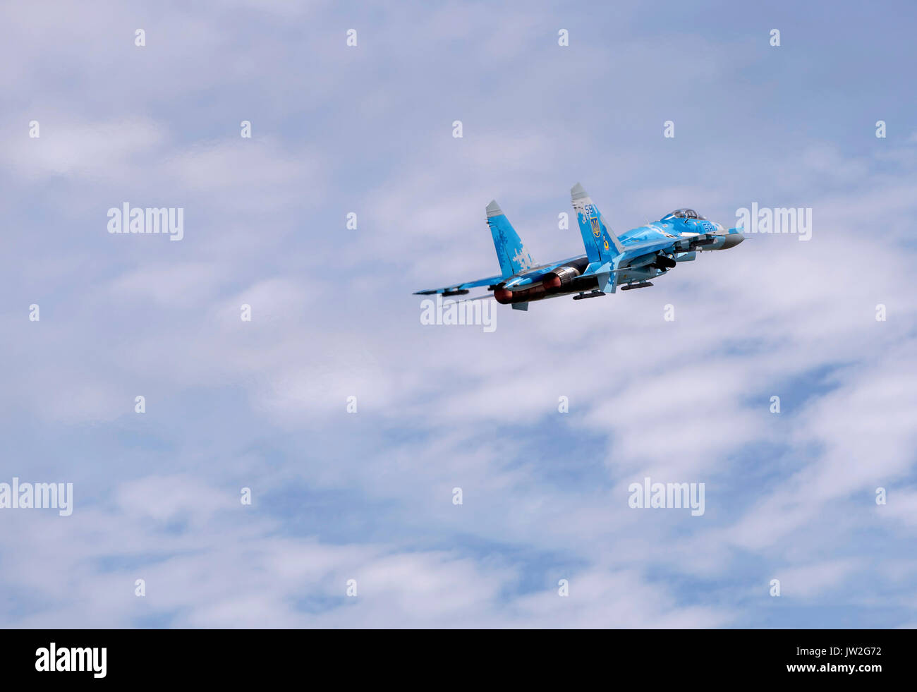 Sukhoi Su27, Ukrainian Air Force - Stock Image