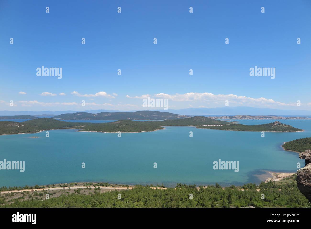 View from Devil's Table ( Seytan Sofrasi ), Ayvalik, Balikesir, Turkey - Stock Image