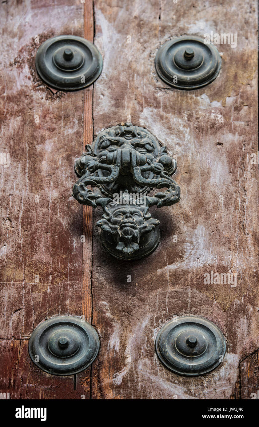 Spain, Andalusia, Seville, Decorative Door Knocker   Stock Image