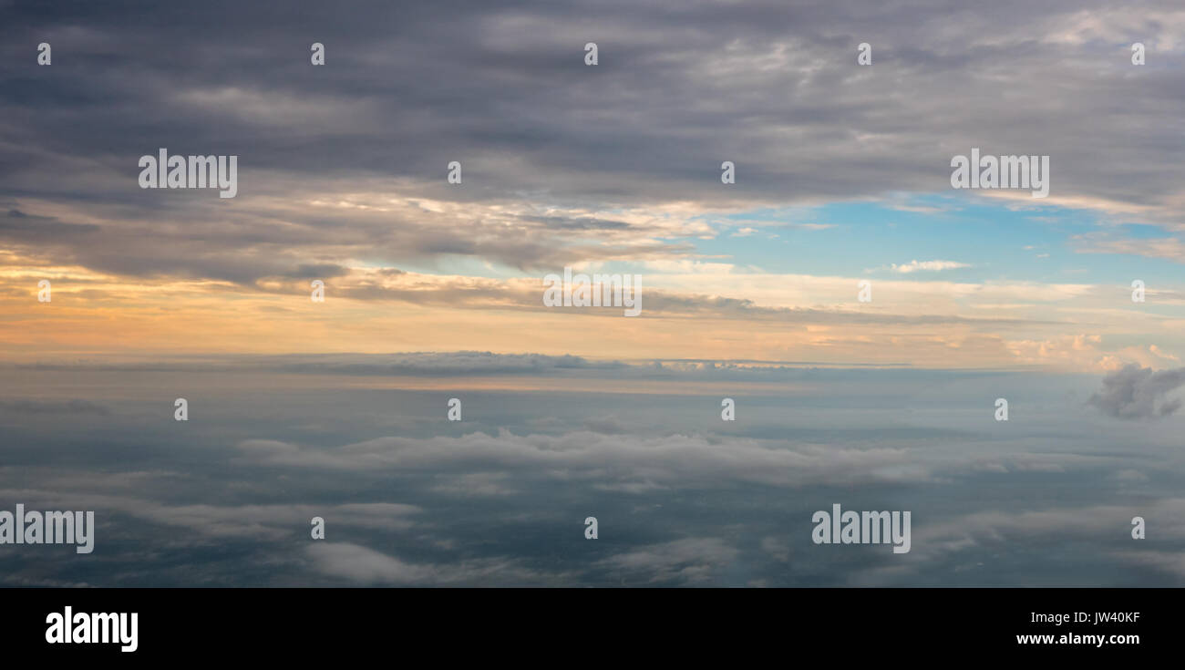 View of Sunrise at 10,000 feet - Stock Image