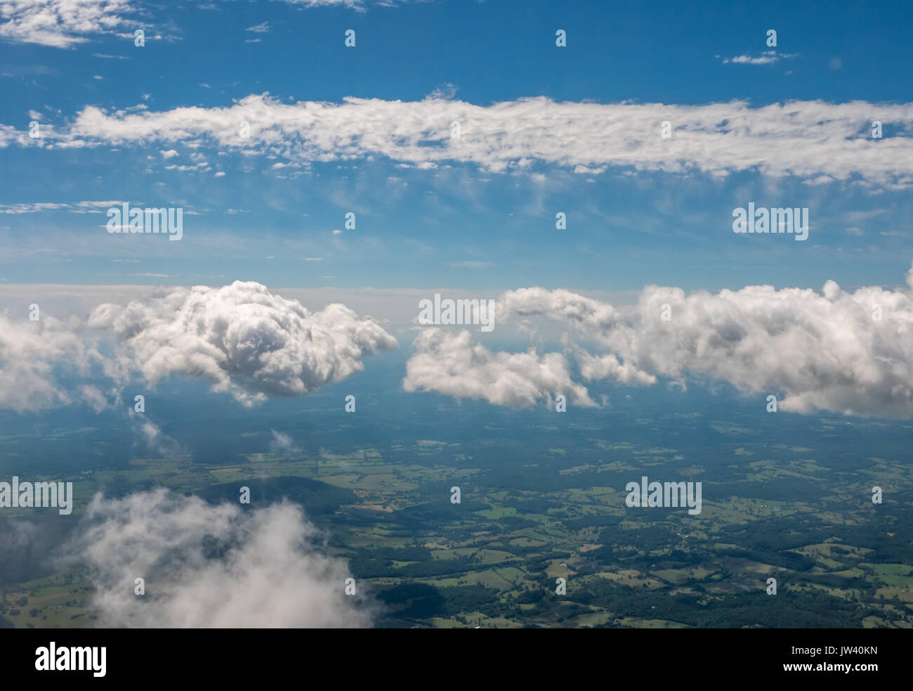 Looking from From Airplane Window Somewhere in Washington State - Stock Image