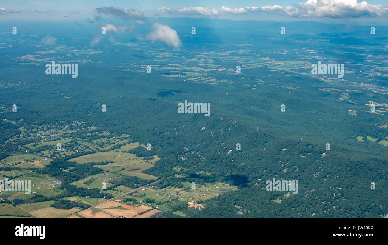 Mountains View from High up - Stock Image