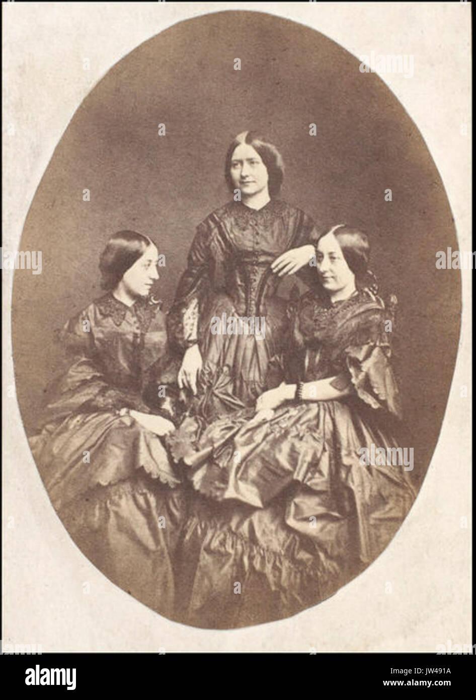 Ternan Sisters A Carte D Visite Maria Ellen And Frances