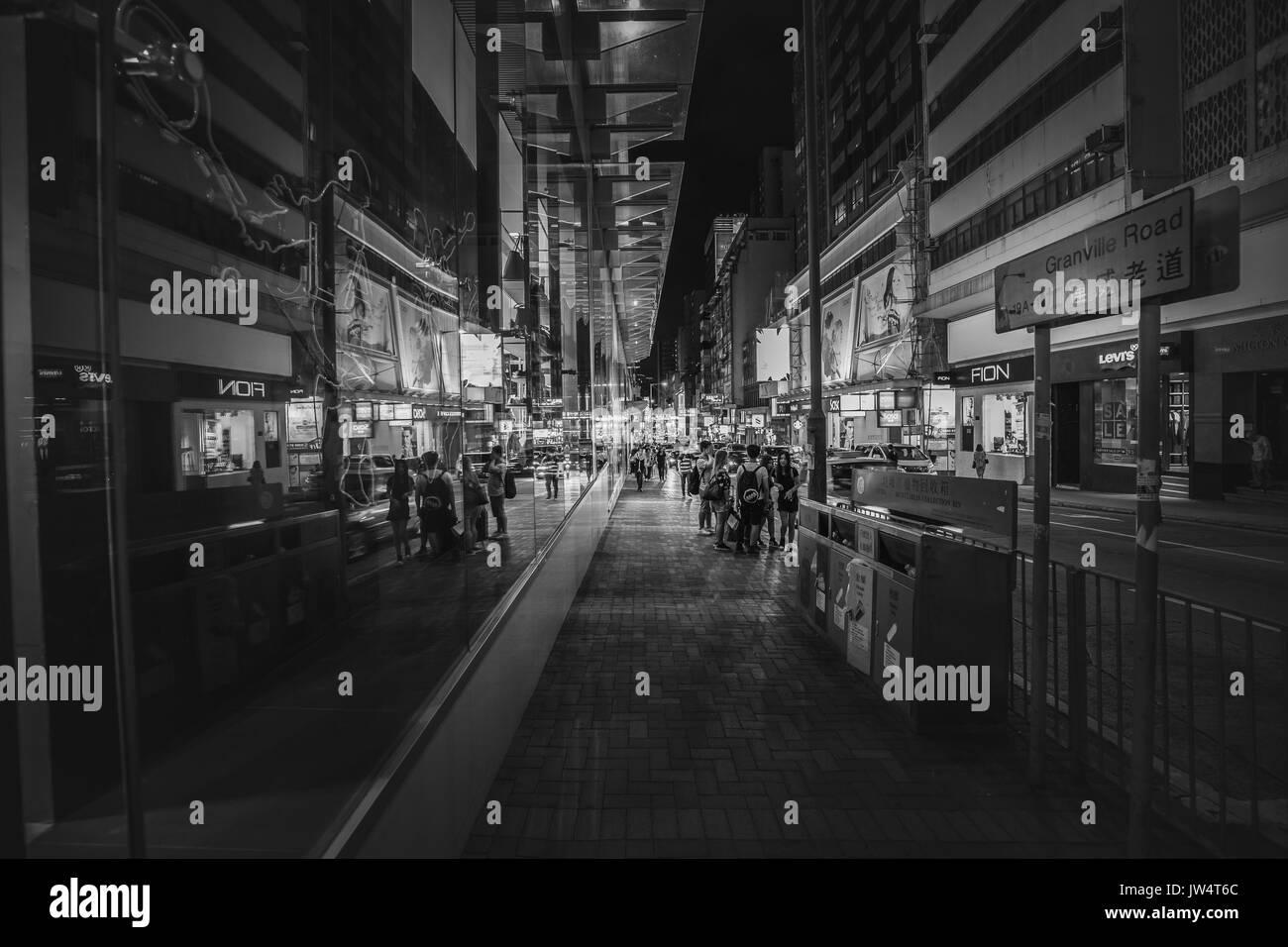 Hong Kong Central at Blue Hour - Stock Image