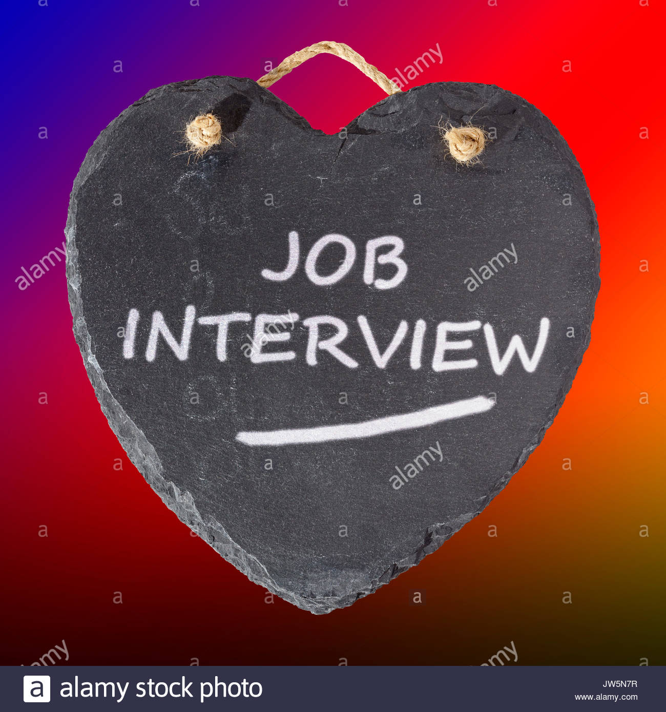 Job Interview written on a blackboard, Blandford, Dorset, England, UK - Stock Image