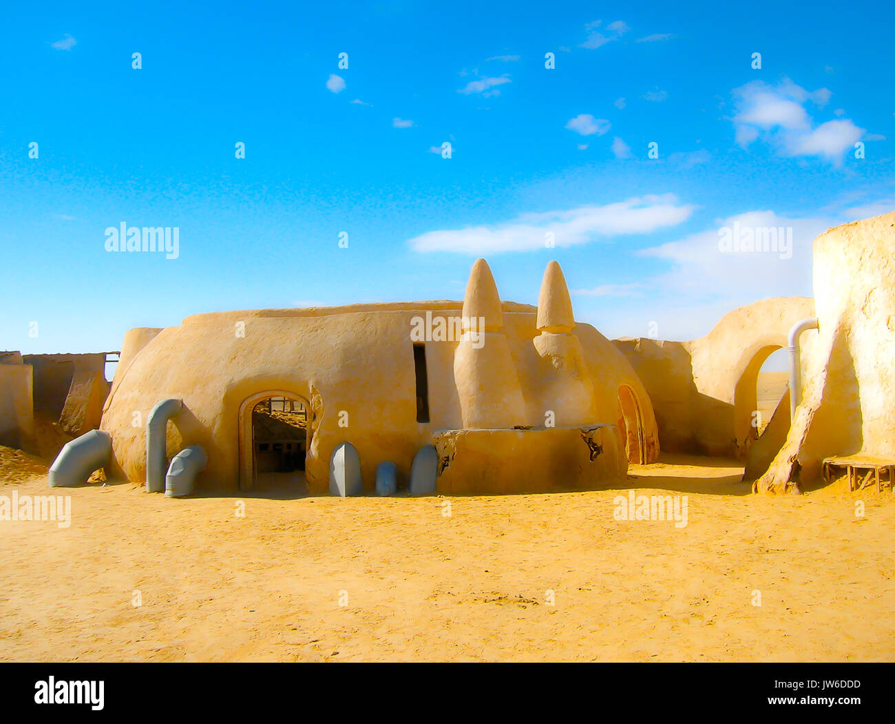 Sahara, Tunisia - January 03, 2008: Abandoned sets for the shooting of the movie Star Wars - Stock Image
